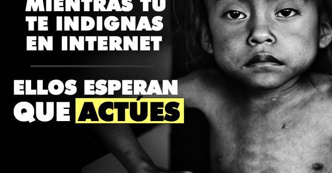 ¿Conoces a un niño desnutrido en Colombia? Actúa ya en vez de farandulear