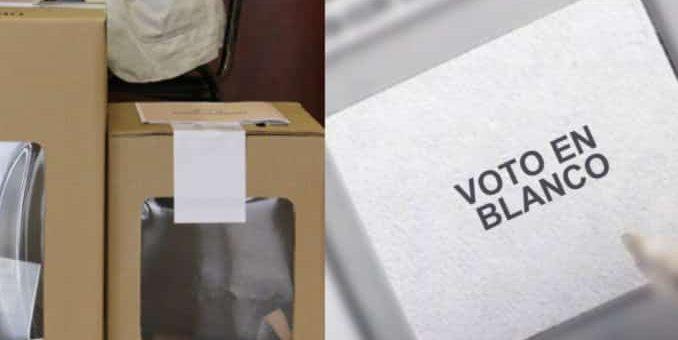 ¿El voto en blanco se suma al candidato con mayor votación?